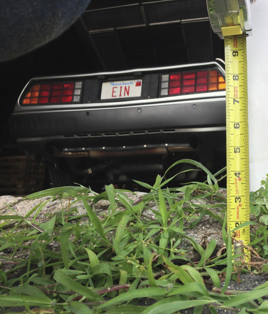 The three inch lip to get the DeLorean into the garage.