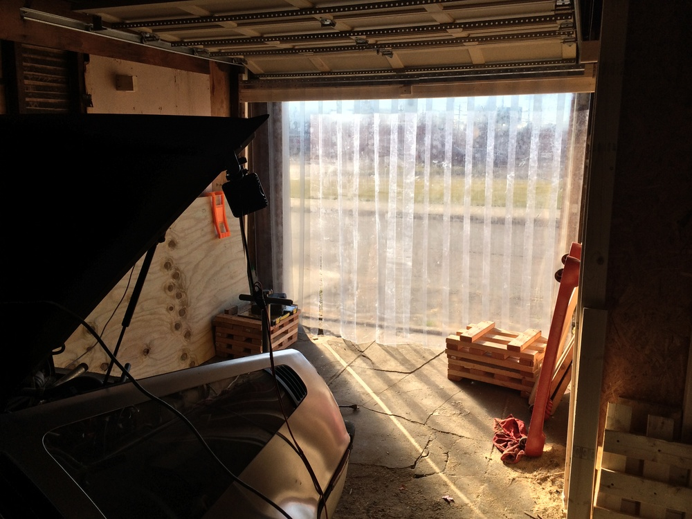 Strip curtains keep the cold out while letting sunlight in.