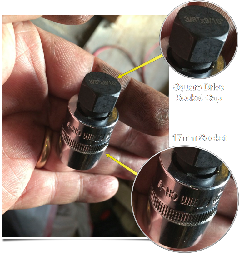 Square Drive Socket Adaptor