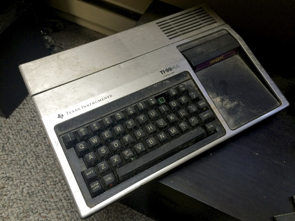 My rather dirty Texas Instruments TI-994A