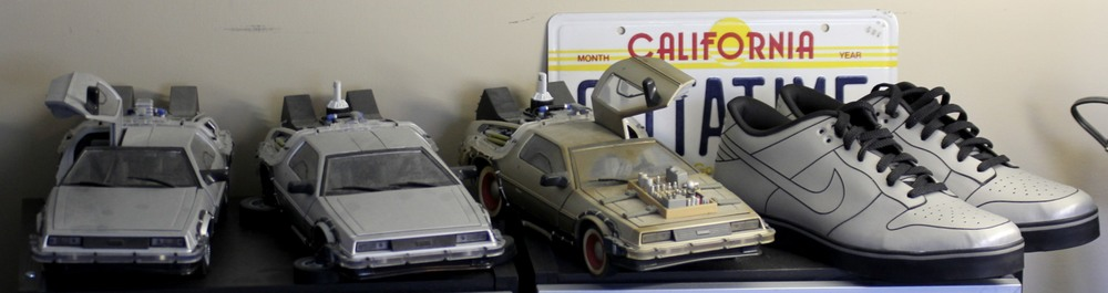 Time Machines, OUTATIME Plates, and Nike DeLorean Sneakers