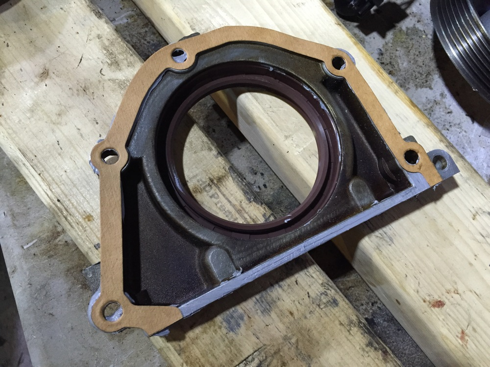 The trimmed gasket, ready to be installed.