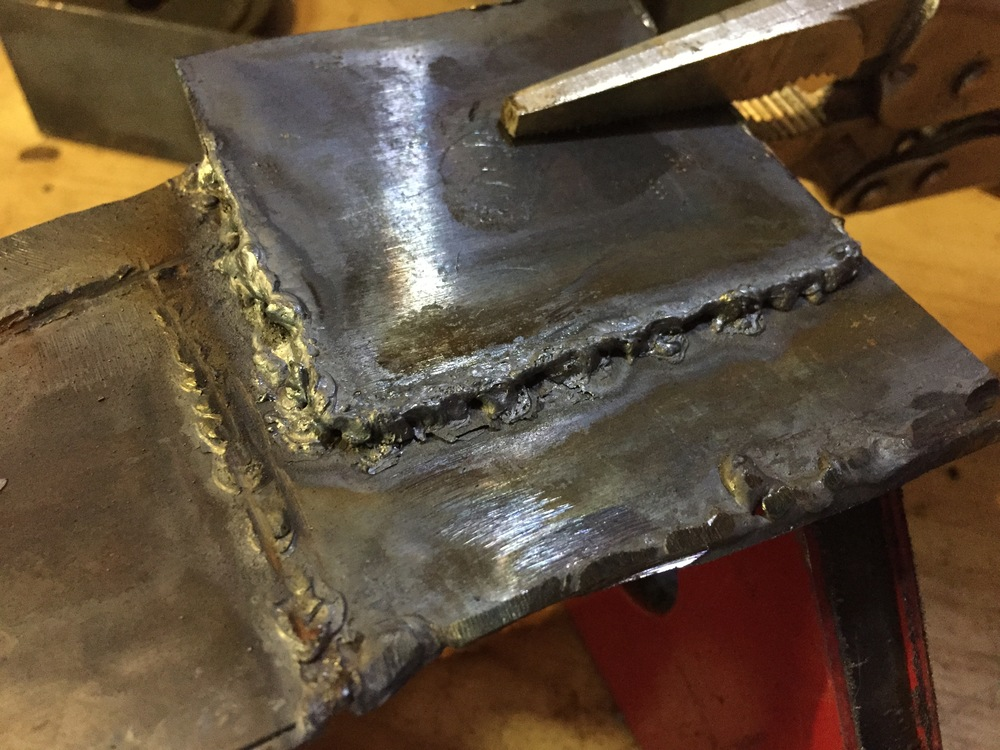 Horrible welds due to not forming a proper puddle of metal.