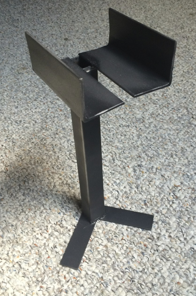 A final speaker stand from the front...