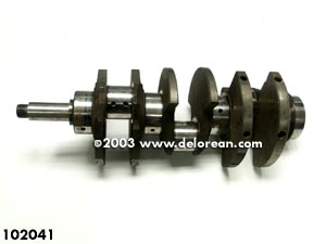 A 2.8L crank.  Notice the journals are uniform (photo from the store.delorean.com).