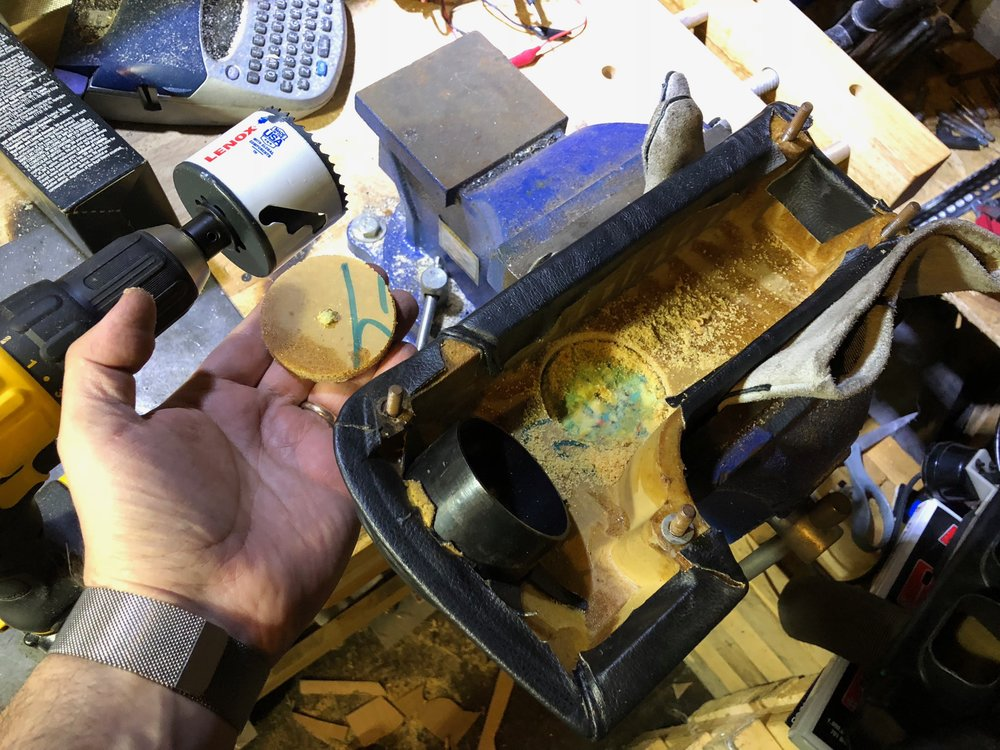 Drilling the Knee Pad
