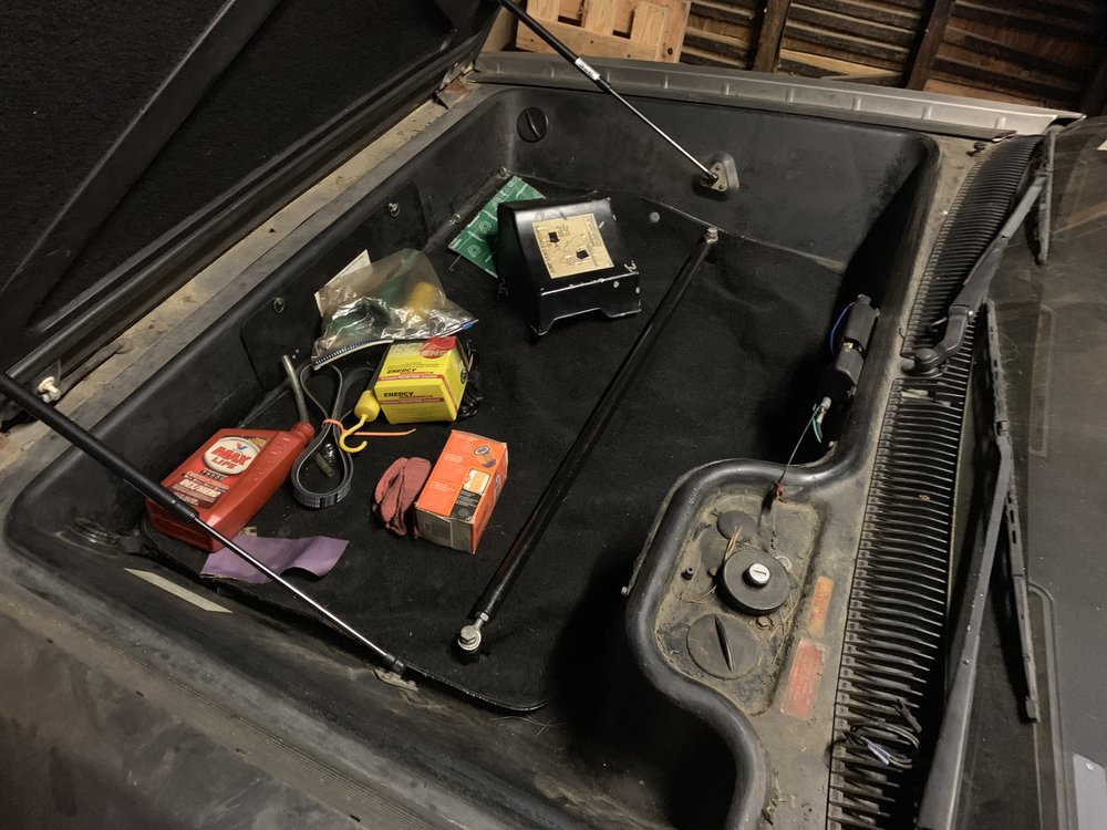 The stabilizer bar properly mounted, and the luggage compartment all sealed up.