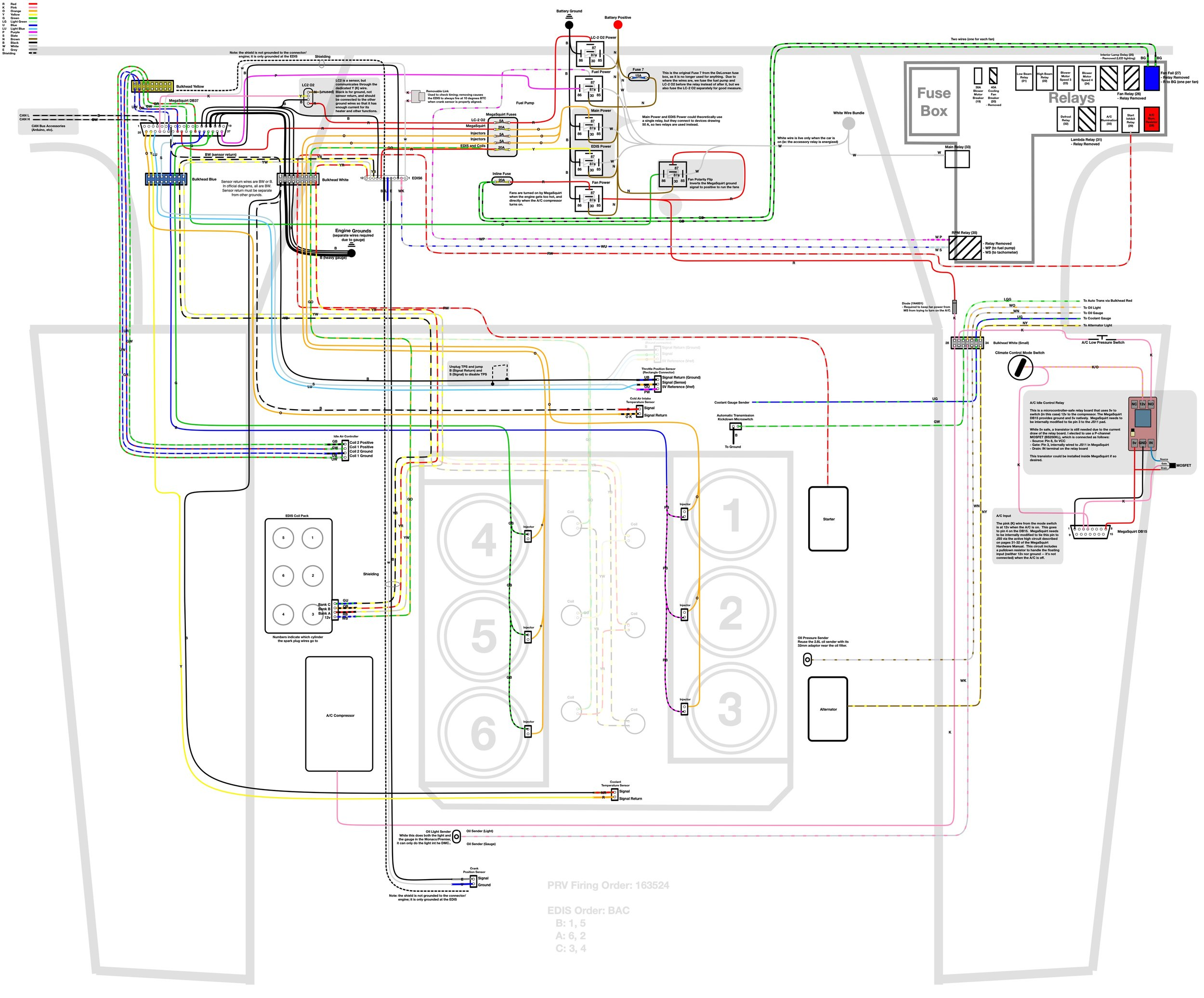 DeLorean+EFI+Wiring?format=1500w wiring, installing the new harness and fuel injector refurbishing delorean fuse box diagram at n-0.co