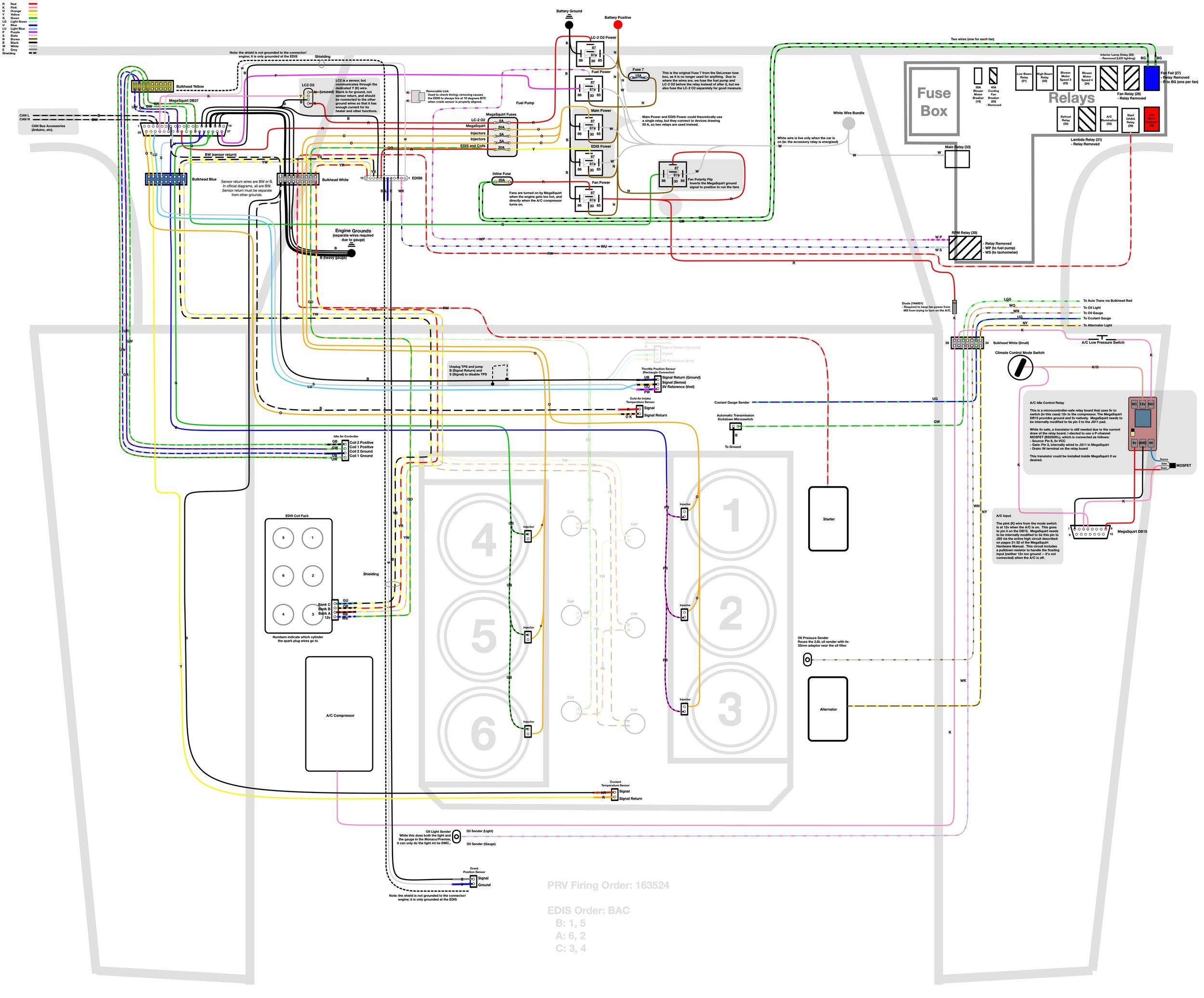 wiring installing the new harness and fuel injector refurbishing rh tmproductions com delorean radio wiring diagram Wiring Diagram Symbols