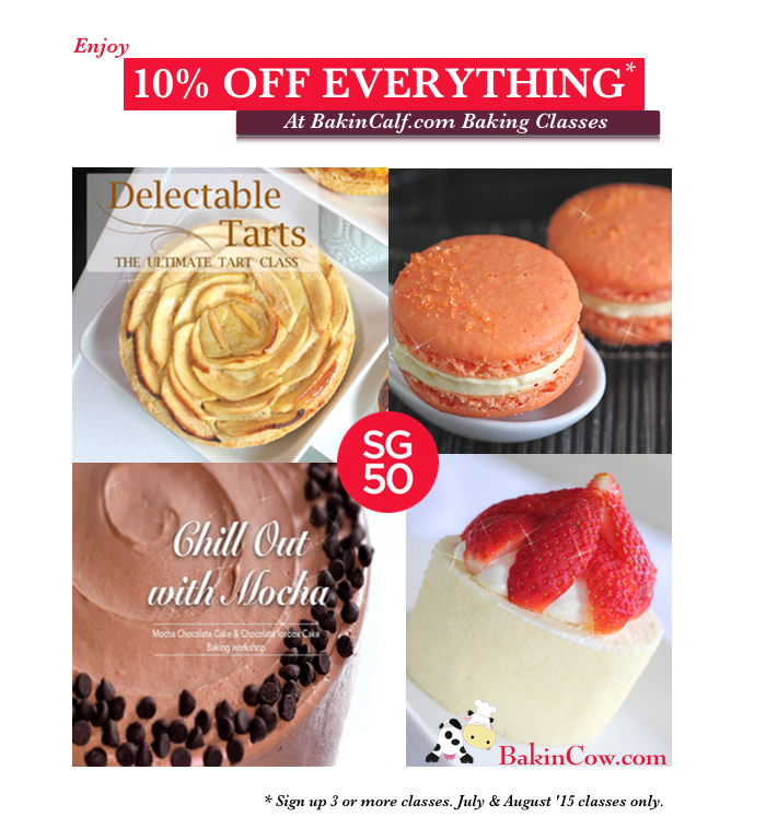 Baking 10% off promotion