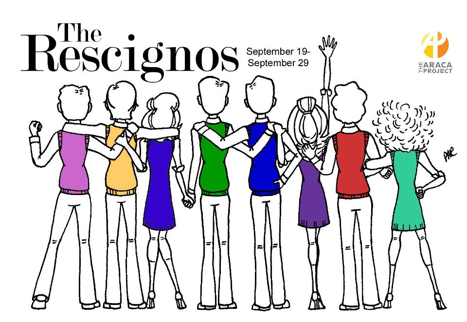 Love this poster from   The Rescignos  , and LOVE the Rescignos themselves!  Don't miss their show, playing through September 29.   Get tix!