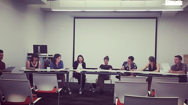 #APBootCamp2016 is underway. We have seven (!) amazing teams this year.  As always, we started off our week with a reading of each project. Here, a reading of 'Midsummer' by Rachel Carpman and Sara Holden (Yale). #AracaProject
