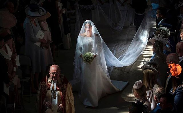 She looks like a Renaissance painting ♥️ #royalwedding
