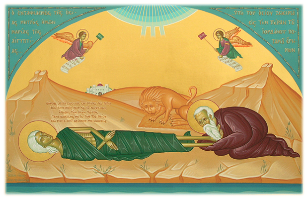 Our Venerable Mother, Mary of Egypt with St. Zosimos