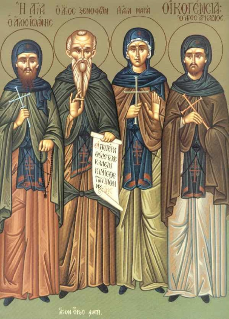Saints Xenophon, Maria, Arkadios and John