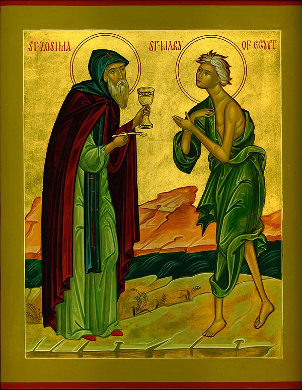 St. Zosimas communing St. Mary of Egypt