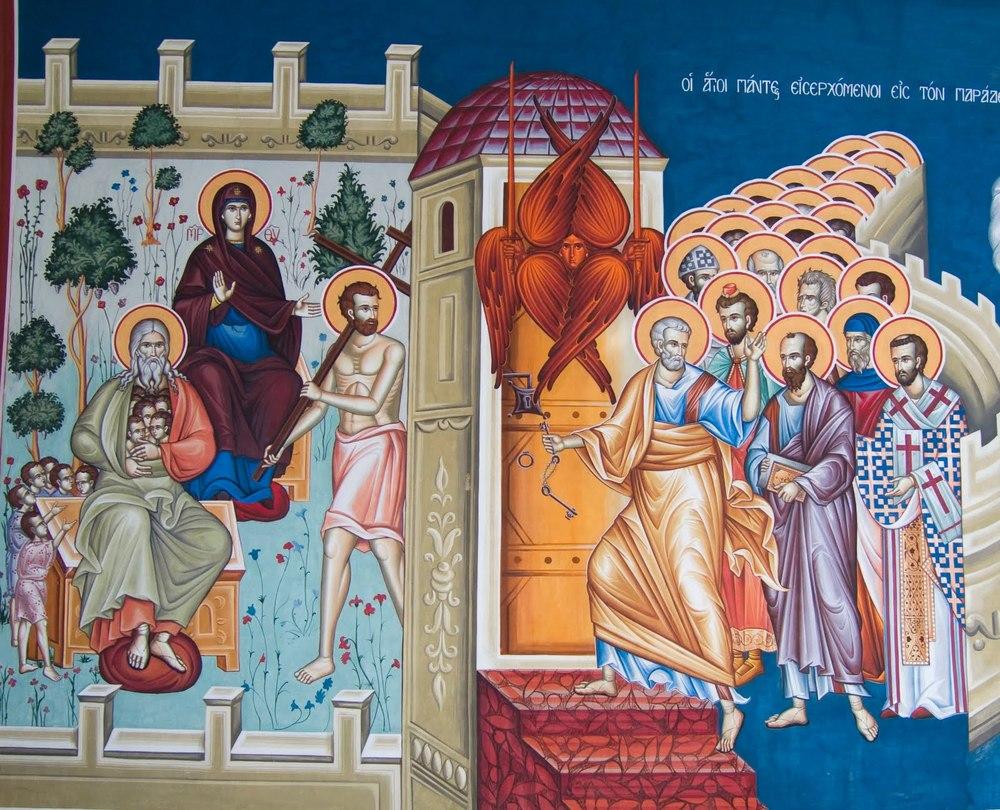All Saints, entering Paradise