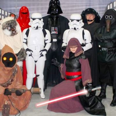 Star Wars characters and super heroes