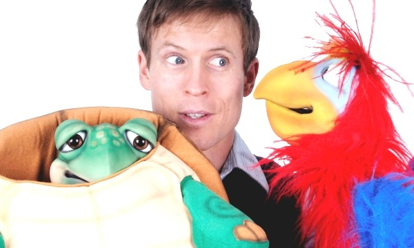 Stunt ventriloquist (and Puppet Tamer) Tim Holland