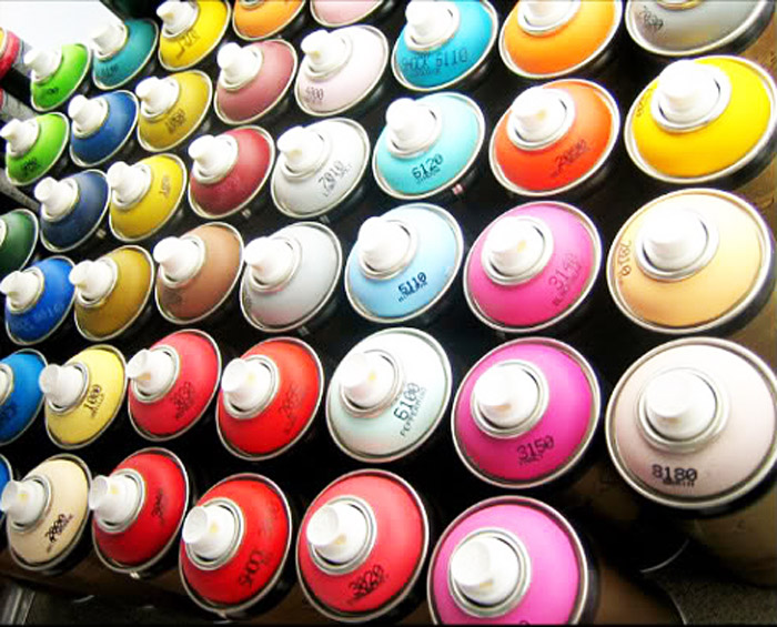 spray paint cans. Black Bedroom Furniture Sets. Home Design Ideas