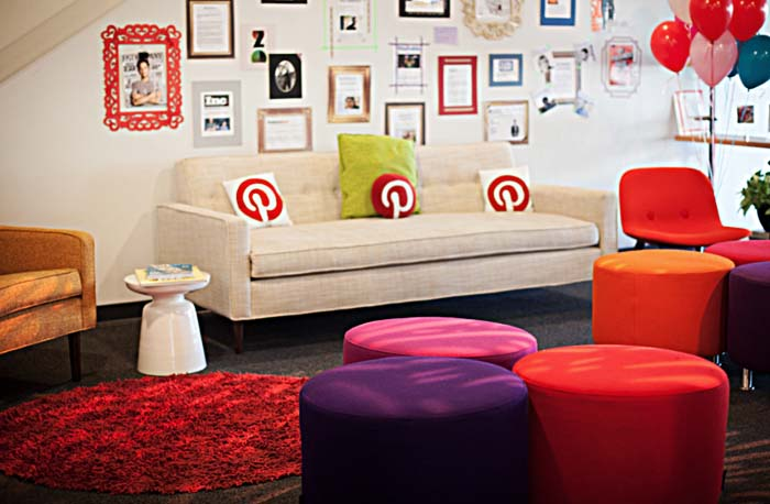 Lobby at Pinterest Headquarters.