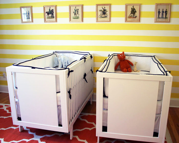 Lemon Stripe Twin Nursery