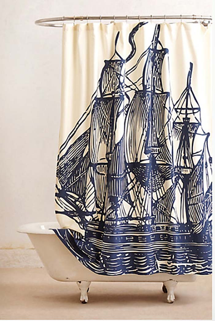 Elizabethan Sails Shower Curtain: Anthropologie