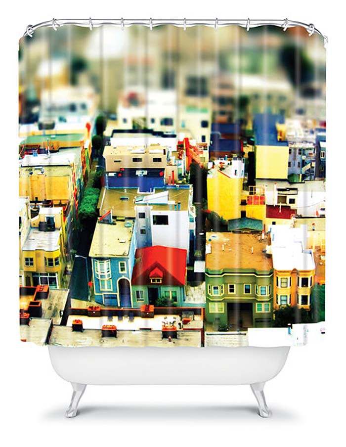 Mini City Shower Curtain by  DENY Designs