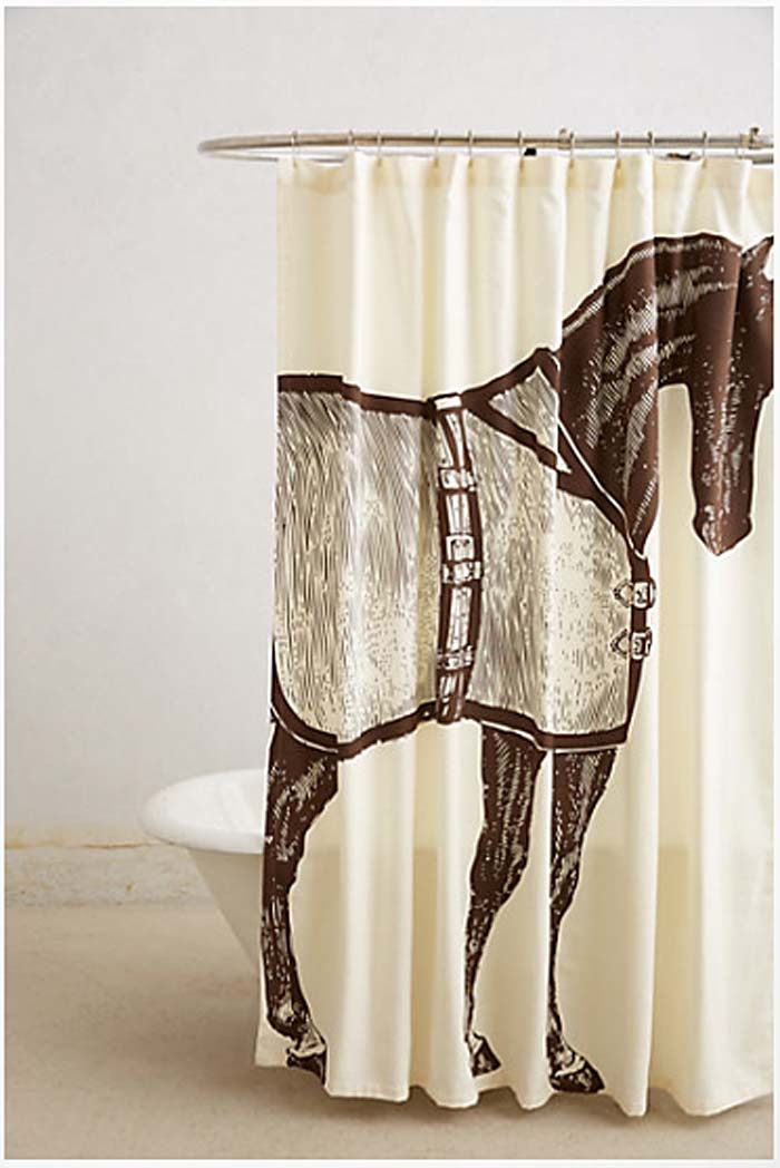 Thoroughbred Shower Curtain: Anthropologie