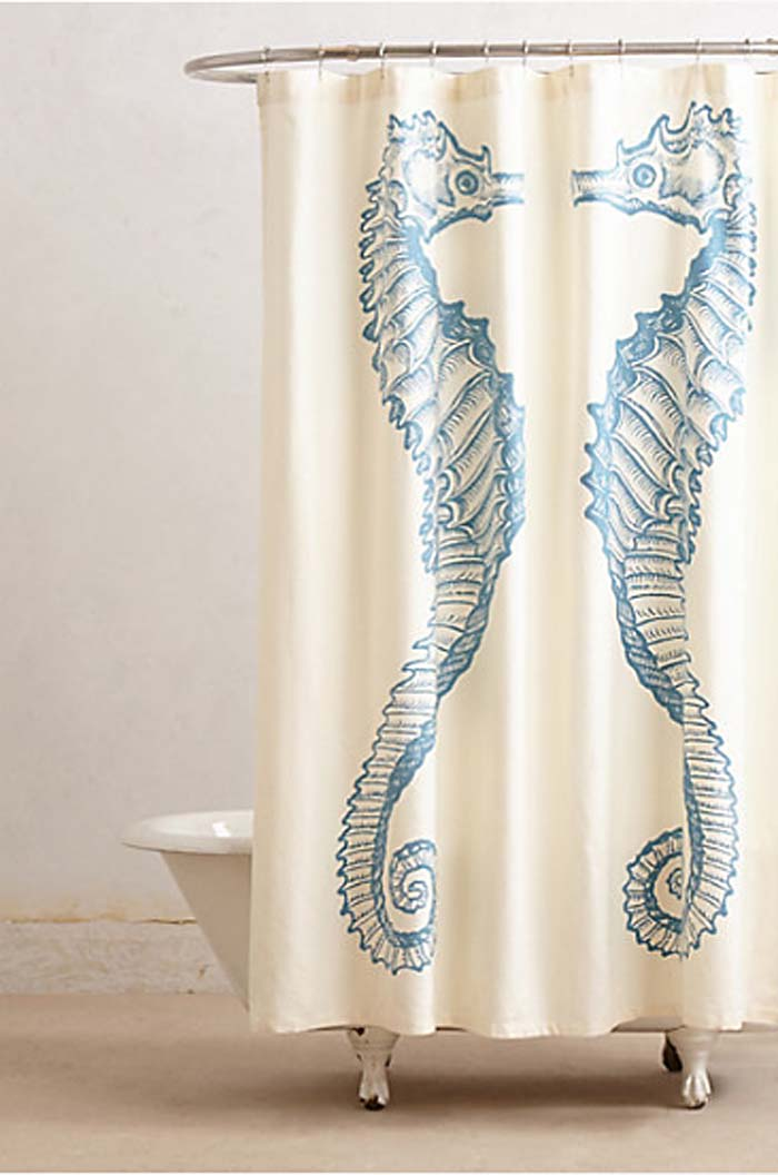 Reflected Seahorse Shower Curtain: Anthropologie