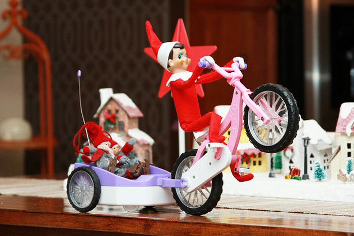 16.  Nobody puts Elf on a Shelf!  From,  Couture & Crayons