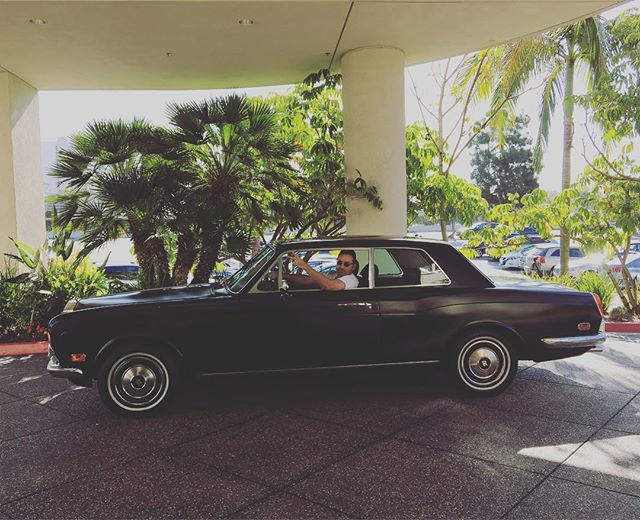 Cousin Robbie picking me up for brunch in the '73 Rolls.