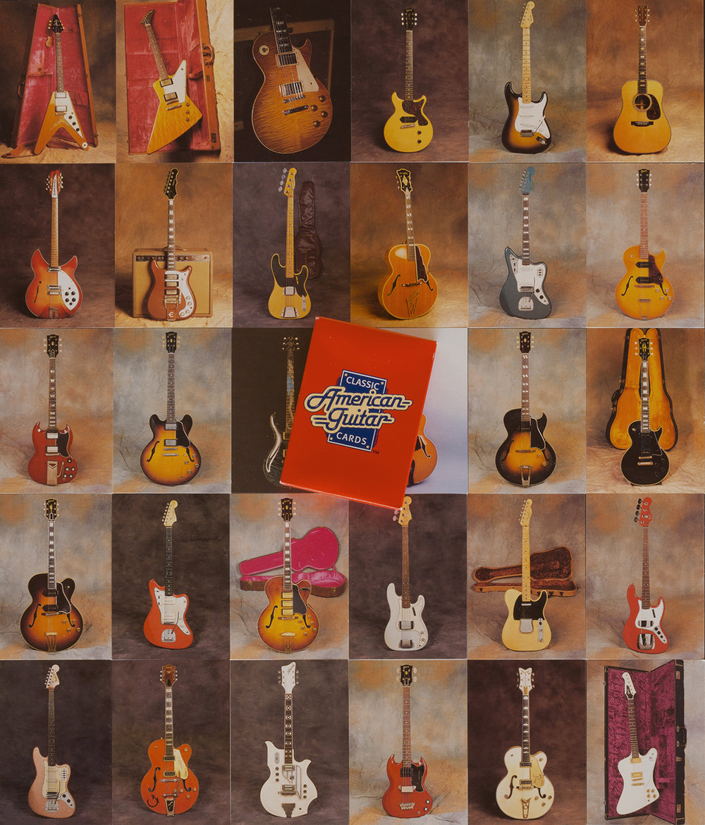 american guitars trading cards, set #1 by charles dellavalle features 27 of my collection instruments