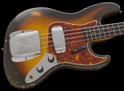 1960 Jazz Bass, Concentric Knobs, Sunburst on Alder
