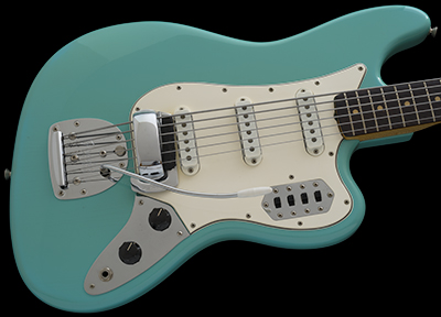 1966 Fender Bass VI, Foam Green w/Matching Headstock