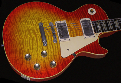 1960 Les Paul Standard, Cherry Sunburst, Big Flame Top