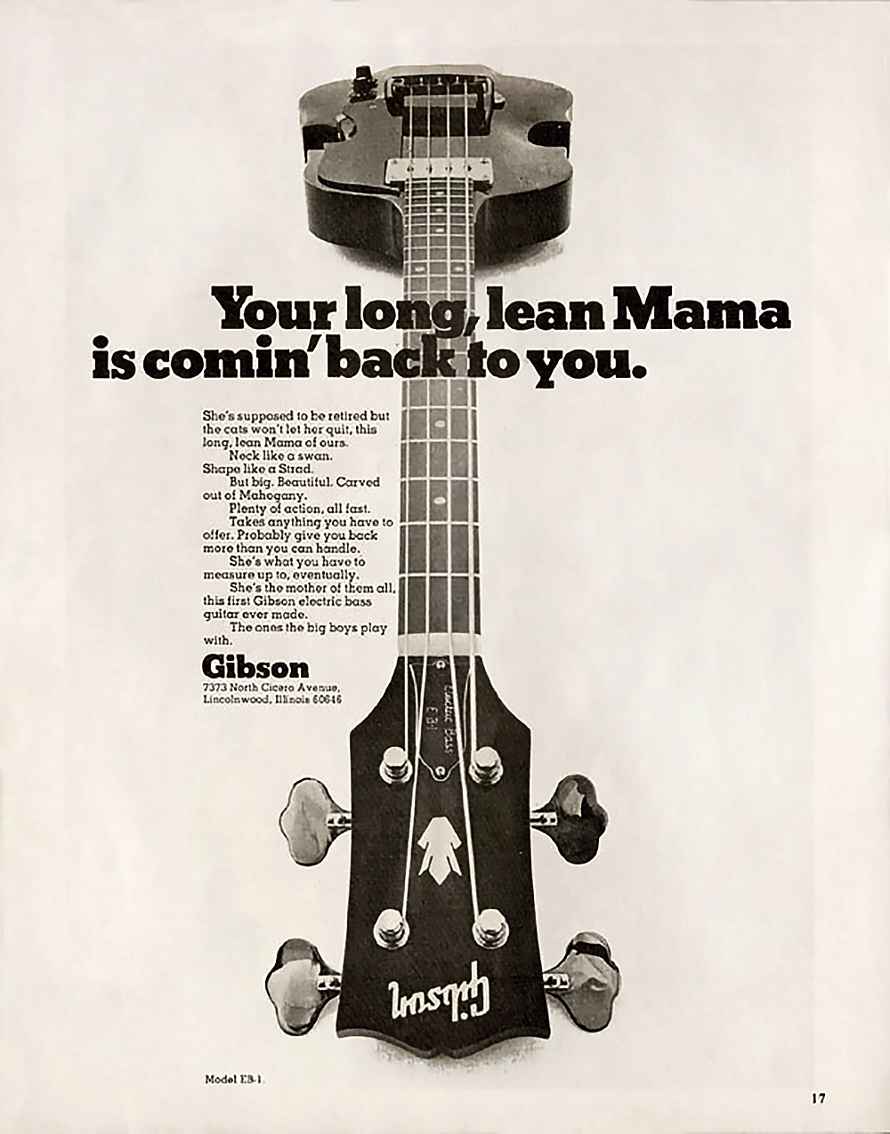 Gibson marketing AD from 1969