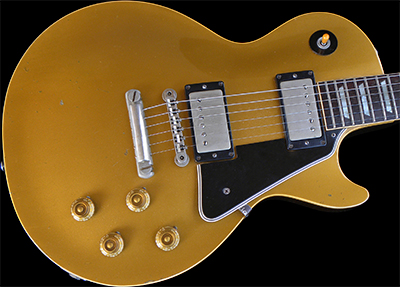 1957 Les Paul Gold Top (Maple Top, Black Plastic)