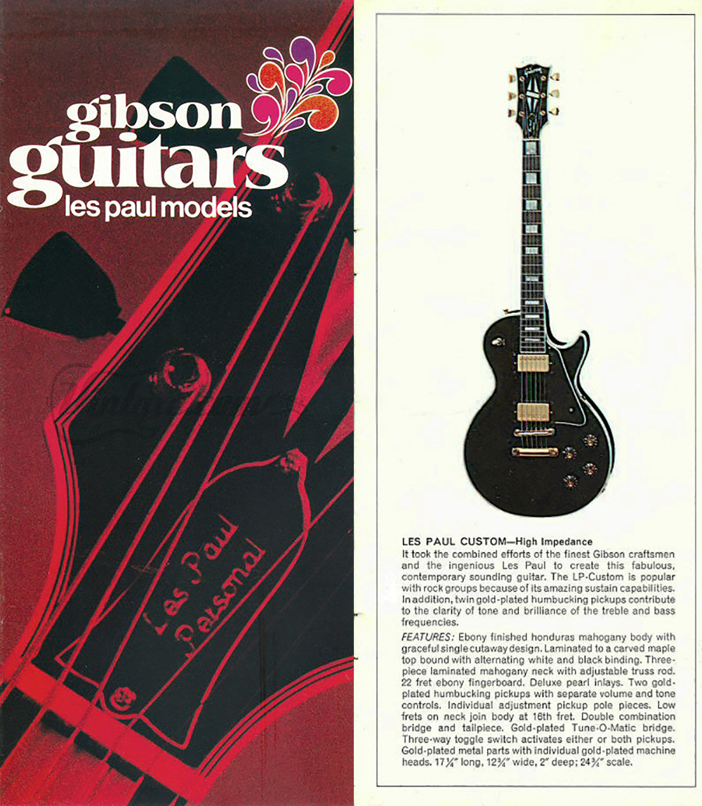 this image is the 1970 Les Paul Catalog