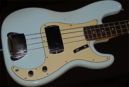 1963 Precision Bass, Sonic Blue