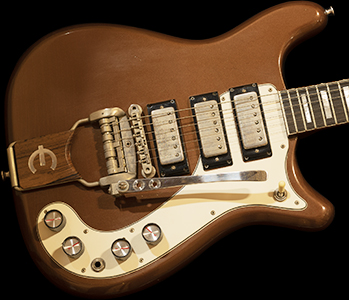 1963 Epiphone Crestwood Deluxe, Aztec Bronze Finish, RARE 1-OFF