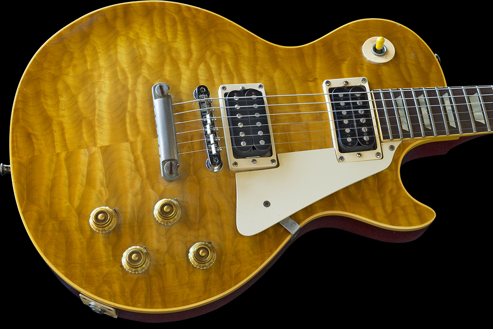 Slash's now iconic and famous HUNTER BURST, made by MAX