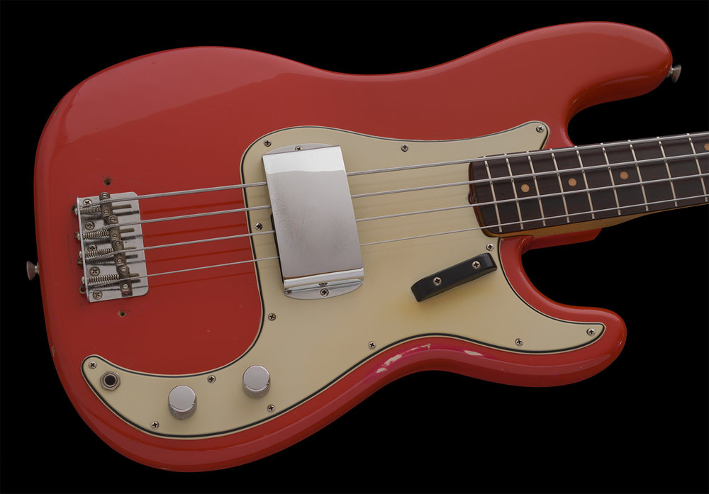 1964 Precision Bass, Fiesta Red, Duco Finish
