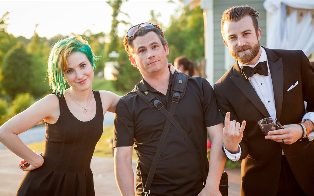 Hayley & Josh of the band Paramore were in a recent wedding...