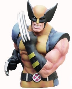 Wolverine Masked Bust Bank by Marvel $16.31 Product Features Wolverine in Yellow & Blue Costume Made of Roto Plastic Slit on back to insert spare change