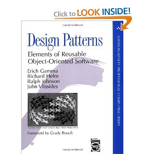 Design Patterns: Elements of Reusable Object-Oriented Software  [Hardcover]        Erich Gamma    (Author) ,   Richard Helm    (Author) ,   Ralph Johnson    (Author) ,   John Vlissides    (Author)       $38.29             Capturing a wealth of experience about the design of object-oriented software, four top-notch designers present a catalog of simple and succinct solutions to commonly occurring design problems. Previously undocumented, these 23 patterns allow designers to create more flexible, elegant, and ultimately reusable designs without having to rediscover the design solutions themselves.