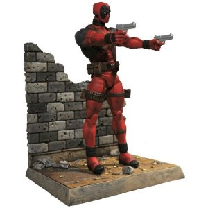 "Diamond Select Toys Marvel Select: Deadpool Action Figure     by  Diamond Select       $19.99           Product Features      Diamond Select's Marvel Select toys are among the highest-quality action figures on the market today   Deadpool is one of Marvel's breakout comic characters   Sculpted by Gabriel Marquez   Figure stands 7"" tall and comes on a deluxe base   Features 16 points of articulation and a detailed sculpt"