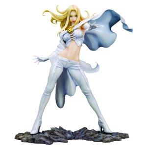 "Kotobukiya Marvel X Bishoujo Collection: Emma Frost Statue by Kotobukiya 10 new from $189.95 Product Features A Kotobukiya Japanese import Latest addition to the Marvel X Bishoujo Collection Combines iconic superheroines and villains with traditional Japanese stylings Stands approximately 8"" H (1/8 scale) Exclusive environmental display base"