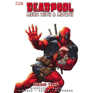 Deadpool: Merc with a Mouth  [Hardcover]        Victor Gischler   (Author),  Bong Dazo  (Illustrator)      10 new  from  $59.31       11 used  from  $88.61        It's the Merc with two mouths! Deadpool travels to the Savage Land to retrieve what might be the deadliest bioweapon the universe has ever seen. What is this deadly object? Well, Deadpool's employer is being a little vague about that. Let's just say when the secret is finally revealed, it's enough to throw even the Merc with two mouths for a loop…Oh hell, we can't keep a secret, it's the severed-but-still-hungry head of the Marvel Zombies: Deadpool!