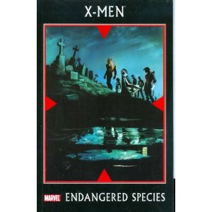 X-Men: Endangered Species  [Paperback]        Mike Carey   (Author),   Christopher Yost   (Author),  Christos Gage  (Author),  Peter David  (Author),  Scot Eaton  (Illustrator),  Mark Bagley (Illustrator),  Mike Perkins  (Illustrator),  Andrea Divito  (Illustrator),  John Dell  (Illustrator),  Skottie Young  (Illustrator)      $14.59            With three little words, and entire race was nearly obliterated. Every mutant who dies is one number closer to zero. Endangered Species, a series of 8-page back-ups in the four core X-titles, follows the Beast as he races against the clock to save this once-thriving race. Collects the X-Men: Endangered Species One-Shot, and #1-17 back-up stories